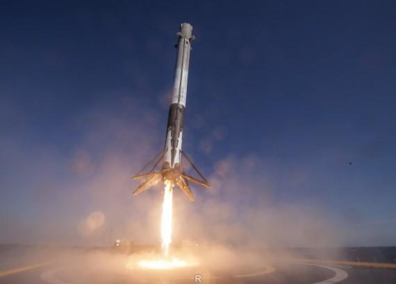 Ракета Falcon 9 удачно села наморскую платформу после запуска японского спутника