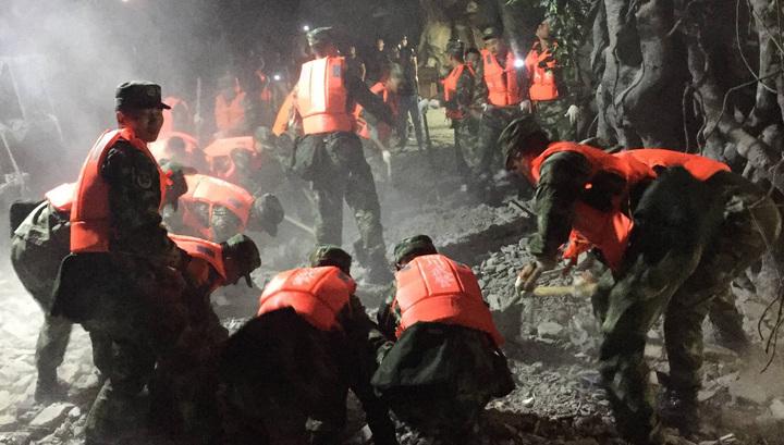 В китайской провинции Сычуань произошло сильное землетрясение