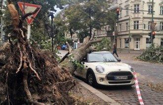 На выходных в Европе свирепствовал ураган Герварт