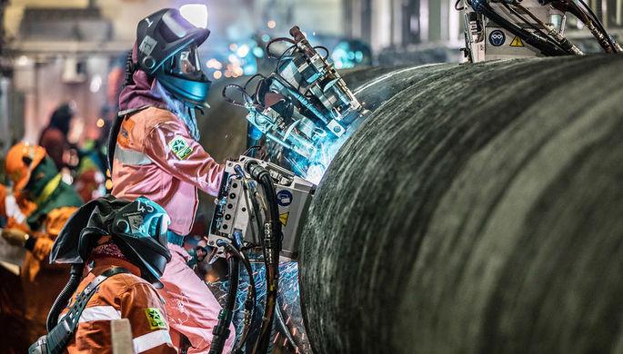 «Газпром» построил треть газопровода «Северный поток-2».