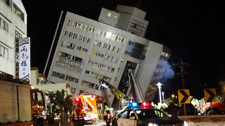Сильное землетрясение на Тайване