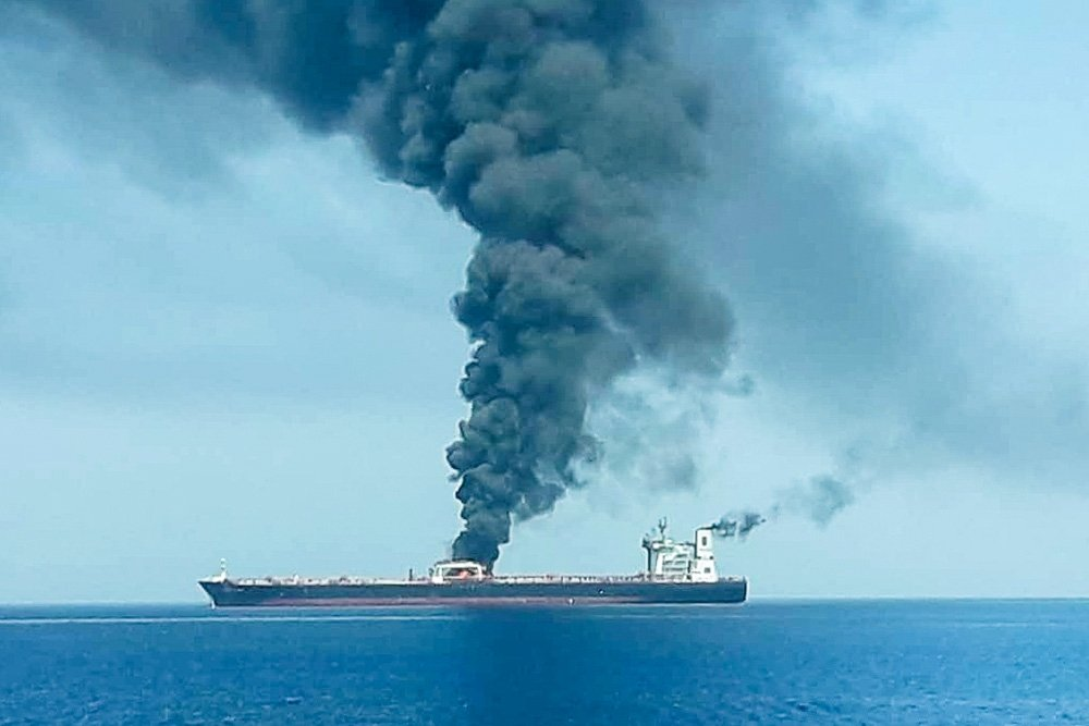 Танкеры в Оманском заливе могли атаковать с воздуха