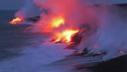 Лава вулкана Килауэа почти достигла берега моря