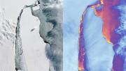 В Антарктиде спутники зафиксировали разрушение мега-айсберга